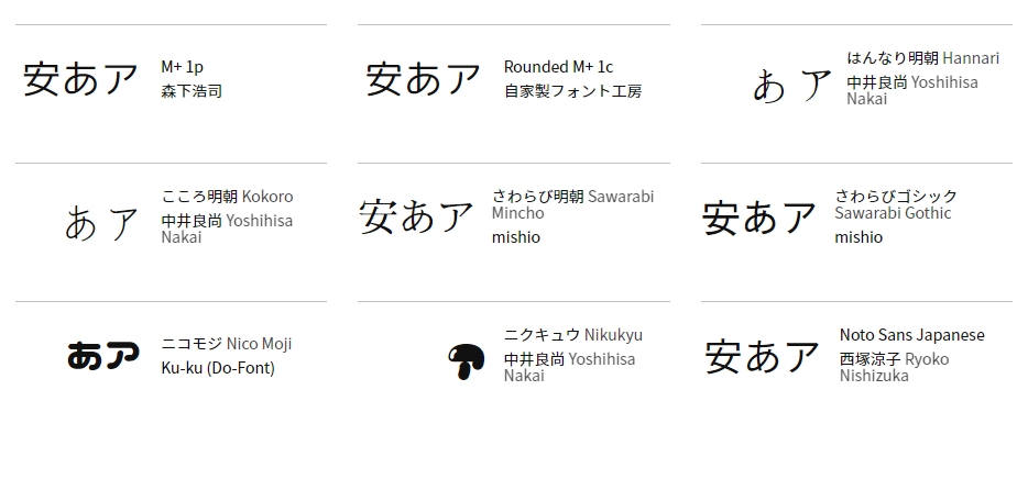 Google Fonts 日本語 早期アクセス • Google Fonts Japanese Early Access